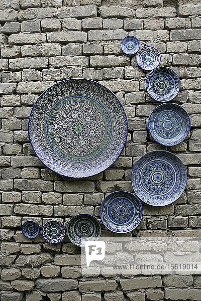 Ceramic plates for sale  Ichan Kala  Khiva  Uzbekistan
