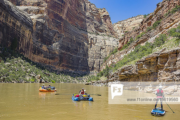 People Rafting At Green River  Dinosaur National Monument  Utah