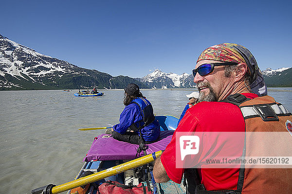 View Of Rafters Rafting On The Alsek River