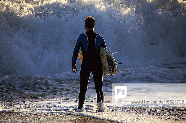 The regularity and beauty of the waves at Le Loch beach have made this a hot spot for surfers. Le Loch  Guidel  Brittany.