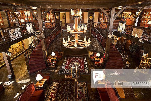 Inside the El Rancho Hotel in Gallup  New Mexico.