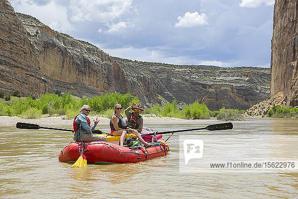 Rafting At The Yampa And Green Rivers Through Dinosaur National Monument