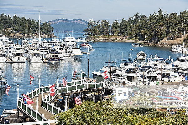 Dock At Roche Harbor On San Juan Island  Washington  Usa