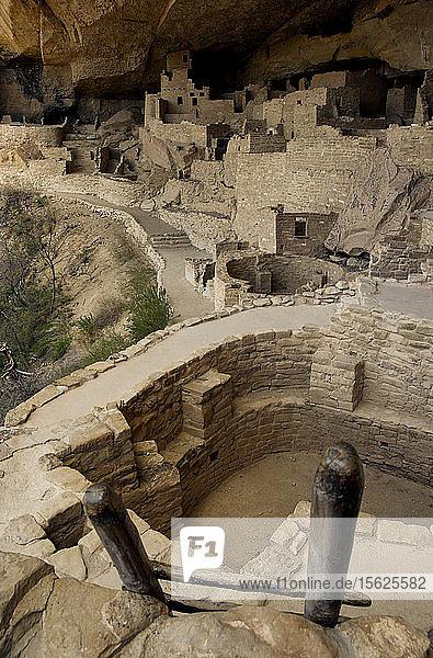 Mesa Verde National Park  eine indianische Stätte im Südwesten von Colorado  die für ihre ausgedehnten Felsenwohnungen bekannt ist.