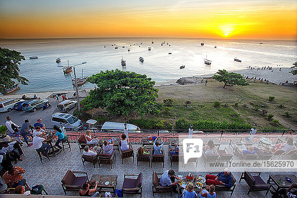 Sunset view from one of the terraces of the hotel African House