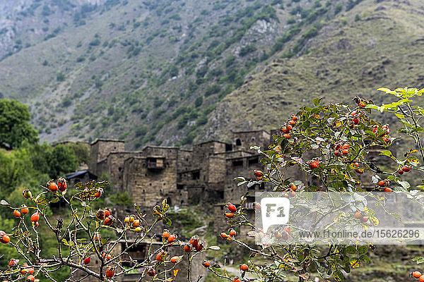 Historisches Dorf Shatili in Khevsureti  Republik Georgien