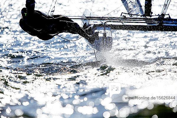 Rio de Janeiro Olympic Test Event - F?�d?�ration Fran?�aise de Voile. Nacra17  Billy Besson  Marie Riou.