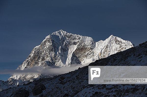 Majestic scenery of mountain peak of Taboche (Mount Tawoche) in Himalayas  Solukhumbu District  Nepal