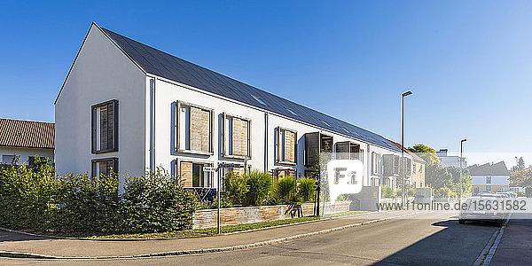 Deutschland  Bayern  Neu Ulm  energieeffizientes Haus Deutschland, Bayern, Neu Ulm, energieeffizientes Haus