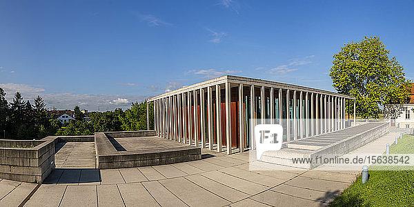 Museum für Moderne Literatur gegen den Himmel  Marbach am Neckar  Ludwigsburg  Baden-Württemberg  Deutschland