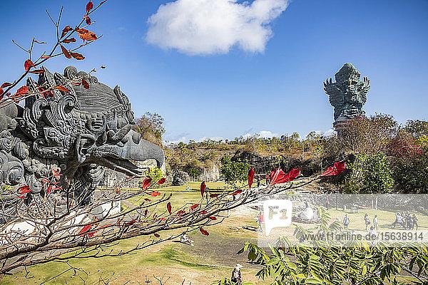 Garuda statue and Garuda Wisnu Kencana statue at Garuda Wisnu Kencana Cultural Park; Bali,  Indonesia