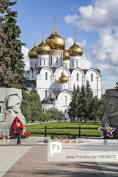 War Memorial with Eternal Flame  Assumption Cathedral; Yaroslavl  Yaroslavl Oblast  Russia