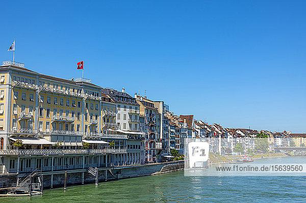 5 star  luxury hotel along the Rhine River; Basel  Basel Stadt  Switzerland