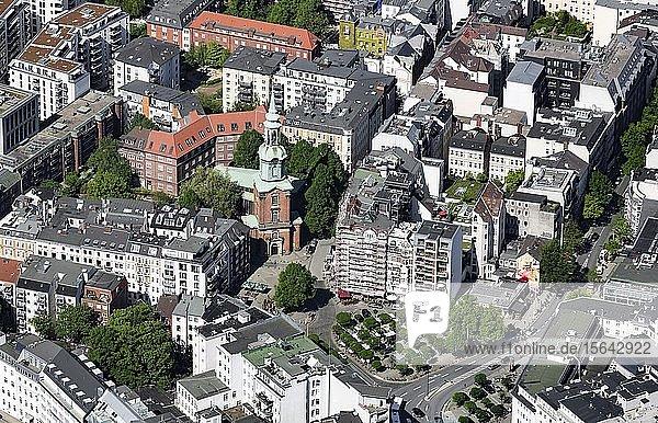 Luftbild  Heilige Dreieinigkeits-Kirche  St. Georg  Hamburg  Deutschland  Europa