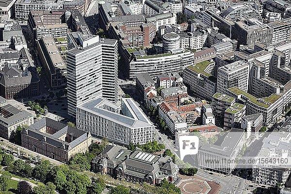 Luftbild  Emporio-Hochhaus und Hotel Scandic  ehemaliges Unileverhaus  Hamburg  Deutschland  Europa