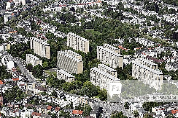 Grindel-Hochhäuser  Harvestehude  Hamburg  Deutschland  Europa