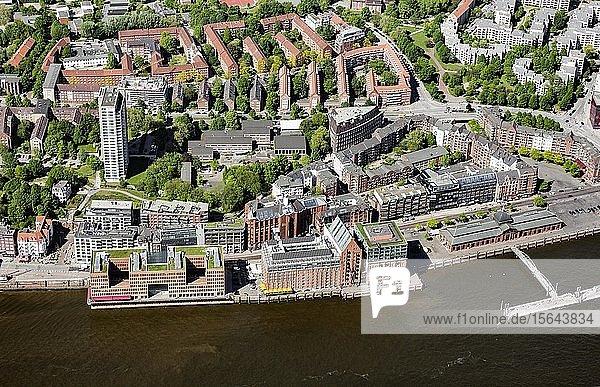 Bürogebäude Holzhafen-Ost  Elbspeicher und Stadtlagerhaus  Große Elbstraße  Altona  Hamburg  Deutschland  Europa
