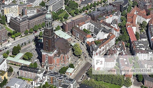 Evangelische Hauptkirche Sankt Michaelis  St. Pauli  Hamburg  Deutschland  Europa