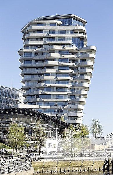 Wohnhochhaus Marco-Polo-Tower  Behnisch Architekten  Hafencity  Hamburg  Deutschland  Europa
