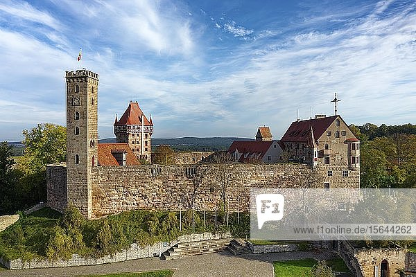 Burg Abenberg,  Höhenburg,  Abenberg,  Fränkisches Seenland,  Mittelfranken,  Burgenstraße,  Franken,  Bayern,  Deutschland,  Europa