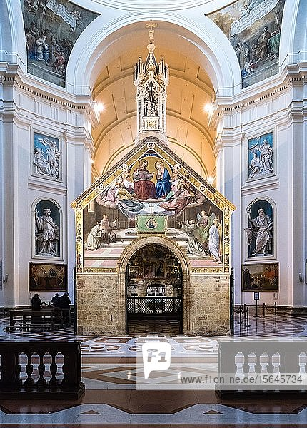 Portiuncula oder Portiunkula Kapelle in der Basilika Santa Maria degli Angeli  Assisi  Provinz Perugia  Umbrien  Italien  Europa