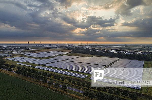 Large solar farms  Andijk  Noord-Holland  Netherlands