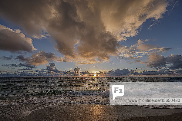 Dramatic clouds over sea