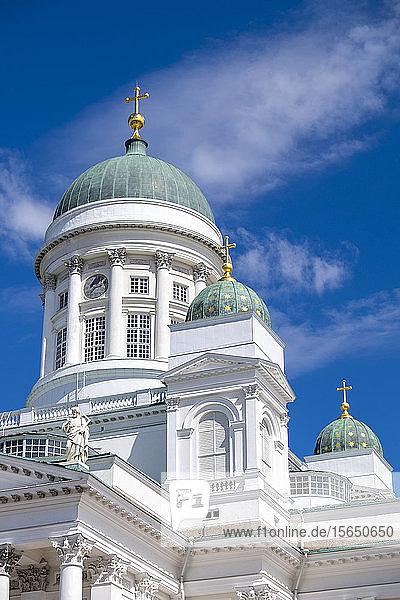 Detail of Helsinki Cathedral  Helsinki  Finland  Scandinavia