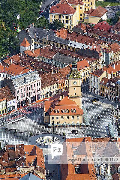 Piata Sfatului (Council Square)  Brasov  Transylvania Region  Romania