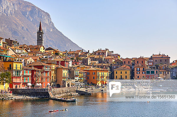 Town of Varenna on Lake Como in the north of Italy  Lombardy  Italian Lakes  Italy
