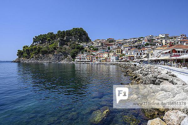 Parga castle and waterfront  Parga  Preveza  Greece