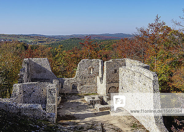 Pilcza Castle Ruins  Smolen  Trail of the Eagles' Nests  Krakow-Czestochowa Upland (Polish Jura)  Silesian Voivodeship  Poland