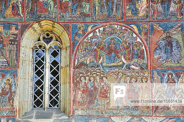 External Frescoes  Humor Monastery  1530  UNESCO World Heritage Site  Manastirea Humorului  Suceava County  Romania
