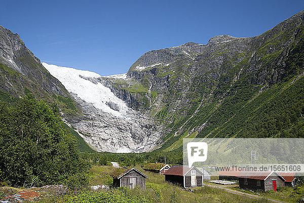 The Jostedalsbreen Glacier in Boyabreen  Vestlandet  Norway  Scandinavia