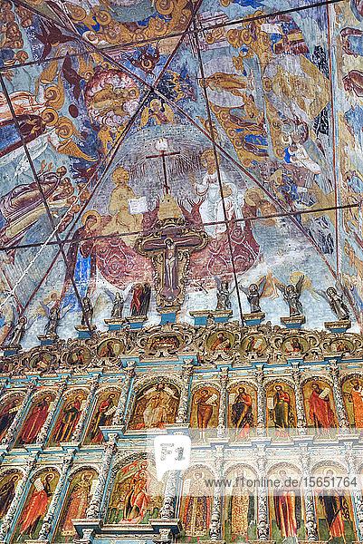 Frescoes  Church of Epiphany  UNESCO World Heritage Site  Yaroslavl  Yaroslavl Oblast  Russia