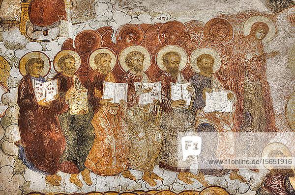 Frescoes  Saviour Church on the City  UNESCO World Heritage Site  Yaroslavl  Golden Ring  Yaroslavl Oblast  Russia