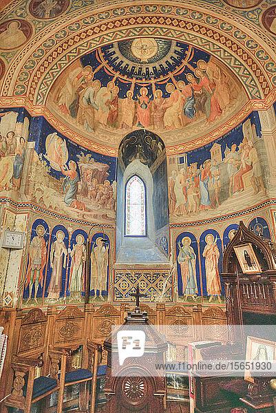 Interior Frescoes  St. George Church Mirauti  1375  Suceava  Suceava County  Romania