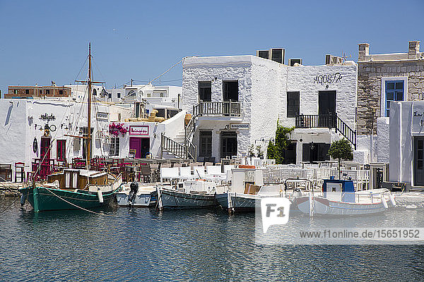 Fishing Boats  Old Port of Naoussa  Paros Island  Cyclades Group  Greek Islands  Greece