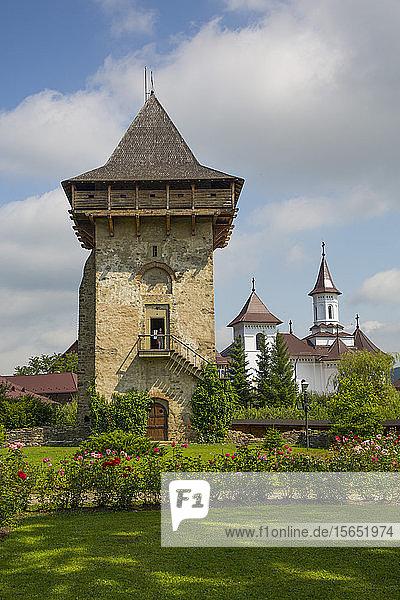 Tower  Humor Monastery  1530  UNESCO World Heritage Site  Manastirea Humorului  Suceava County  Romania