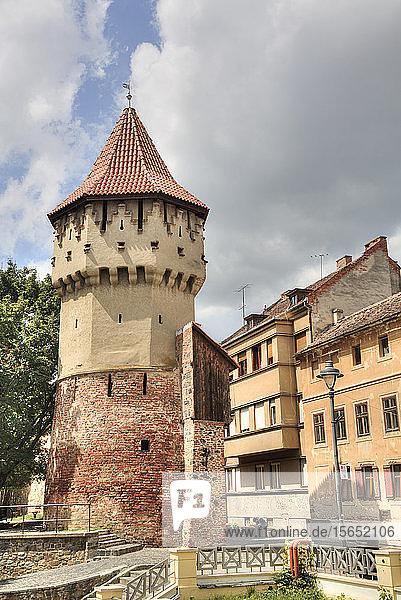 Tower of the Carpenters  Sibiu  Transylvania Region  Romania