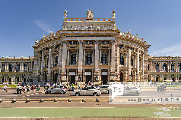 Burgtheater in the historic center of Vienna against sky  Austria