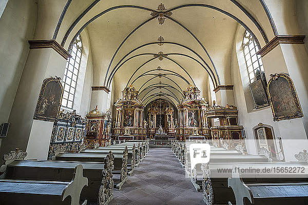 Interior of church at Princely Abbey of Corvey  Germany