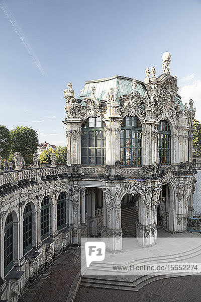 High angle view of Zwinger against sky in Saxony  Germany