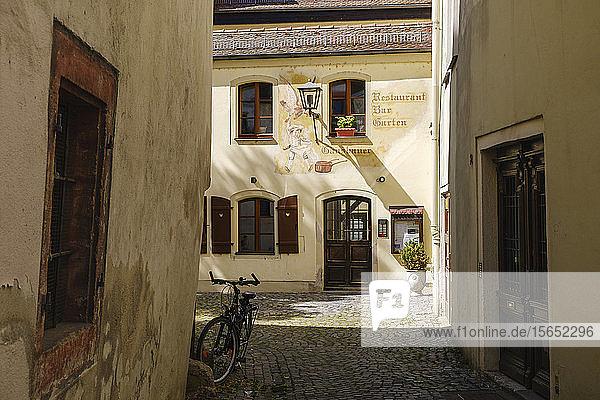 Exterior of restaurant Gänsbauer in Keplerstrasse  Regensburg  Upper Palatinate  Bavaria  Germany