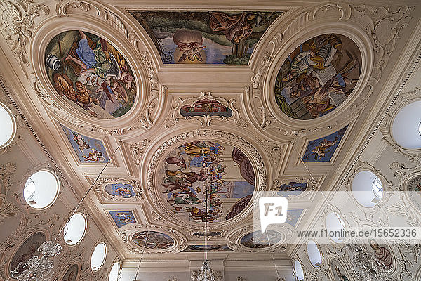 Painted ceiling of emperors hall at Princely Abbey of Corvey  Germany