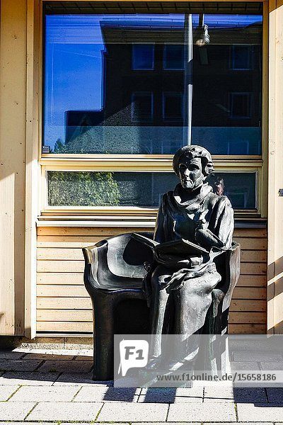 Stockholm  Sweden A statue of famed children's book author Astrid Lindgren at the Karolinska Hospital.