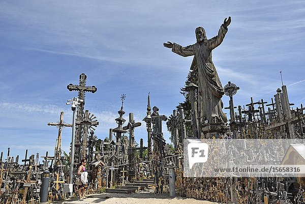 Hill of Crosses  near Siauliai  Lithuania  Europe.