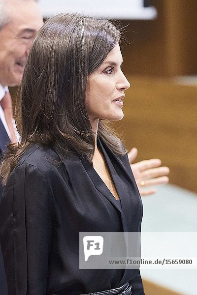 Queen Letizia of Spain attends the Delivery of the third edition of the 'International Friendship Award' at IESE Campus on October 30  2019 in Madrid  Spain