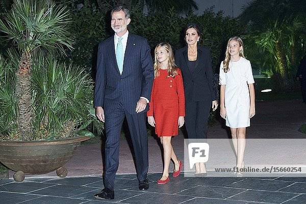 King Felipe VI of Spain  Queen Letizia of Spain  Crown Princess Leonor  Princess Sofia attends the 'Princesa de Girona' Foundation Awards at Palau de Congressos de Catalunya on November 4  2019 in Barcelona  Spain