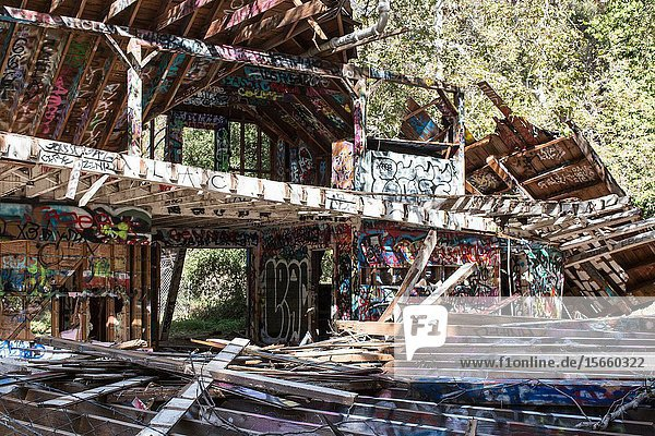 The remains of a dark period in American history  when Nazi sympathizers established a ranch mean to be self sufficient in the Pacific Palisades outside Santa Monica  California.
